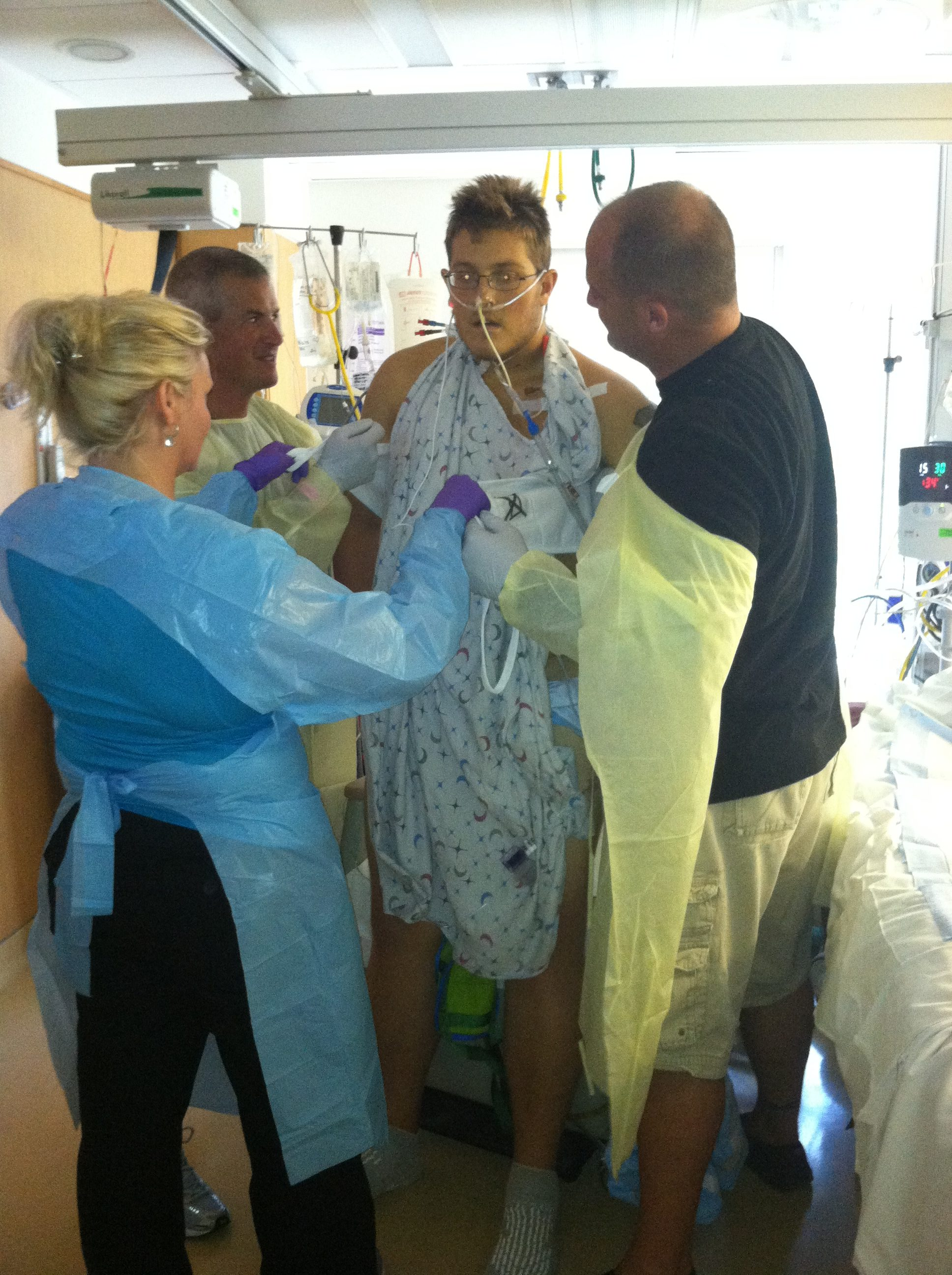 Gavin's First Time Standing After Transplant