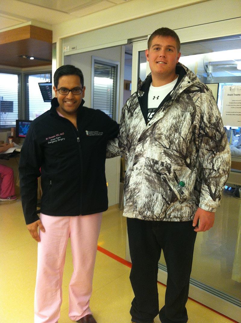Dr. Narayan with Gavin