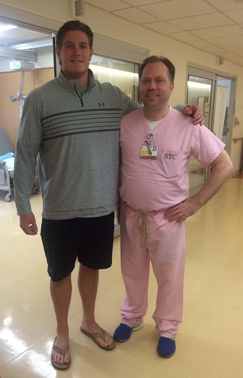 Nurse Paul and Gavin