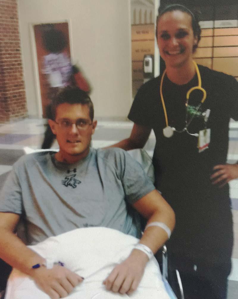 Gavin with Nurse Anna
