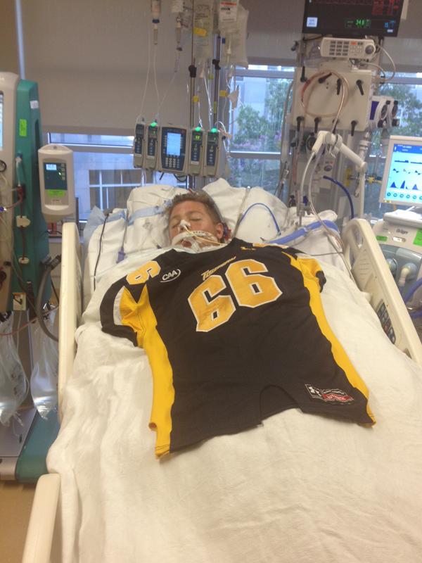Gavin-in bed before transplant